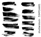 black ink vector brush strokes. ... | Shutterstock .eps vector #534916681