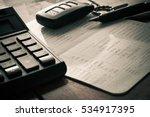 close up of calculator  car... | Shutterstock . vector #534917395