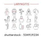 laryngitis. symptoms  treatment.... | Shutterstock .eps vector #534919234