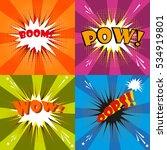 pow  oops  wow bom comic speech ... | Shutterstock .eps vector #534919801