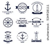 set of vintage retro nautical... | Shutterstock .eps vector #534928111