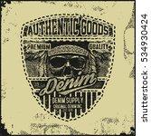 vintage denim typography ... | Shutterstock .eps vector #534930424