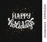merry christmas card  vector... | Shutterstock .eps vector #534931324