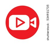 play video icon vector...