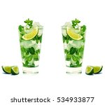 mojito isolated on white... | Shutterstock . vector #534933877