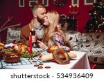 beautiful couple kissing and... | Shutterstock . vector #534936409