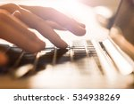 fingers typing on the computer... | Shutterstock . vector #534938269