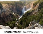 grand canyon of yellowstone... | Shutterstock . vector #534942811