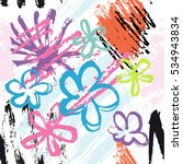 abstract colorful hand drawn...   Shutterstock .eps vector #534943834