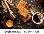 sweet homemade layered honey...   Shutterstock . vector #534947725