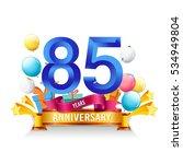 85 years anniversary... | Shutterstock .eps vector #534949804