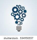 gears in light bulb shape  ... | Shutterstock .eps vector #534950557