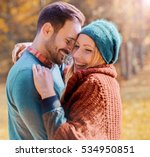 romantic couple having... | Shutterstock . vector #534950851