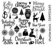 christmas and new year hand... | Shutterstock .eps vector #534952645