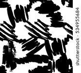 vector abstract graphic black... | Shutterstock .eps vector #534955684