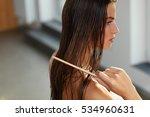 hair care. closeup of beautiful ... | Shutterstock . vector #534960631