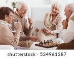 happy pensioners of rest home... | Shutterstock . vector #534961387