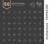 camping   beach icon set. 50... | Shutterstock .eps vector #534962185