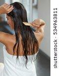 hair beauty. closeup of... | Shutterstock . vector #534963811