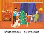 merry christmas concept... | Shutterstock .eps vector #534968005