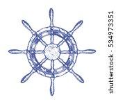 ship steering wheel hand draw... | Shutterstock .eps vector #534973351