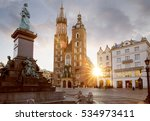 historic city center of krakow  ... | Shutterstock . vector #534973411