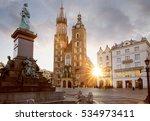 historic city center of krakow  ... | Shutterstock . vector #534973411