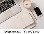 top view of a modern laptop... | Shutterstock . vector #534991249