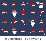 santa christmas hat decoration. ... | Shutterstock .eps vector #534994141
