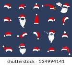 santa christmas hat decoration. ... | Shutterstock .eps vector #534994141