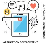 app development vector icon | Shutterstock .eps vector #534999679