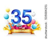35 years anniversary... | Shutterstock .eps vector #535004251