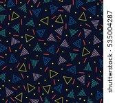 retro memphis geometric line... | Shutterstock .eps vector #535004287