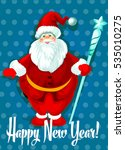 happy new year greeting.... | Shutterstock . vector #535010275