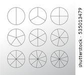 circle segments set. various... | Shutterstock .eps vector #535013479