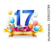 17 years anniversary... | Shutterstock .eps vector #535015789