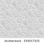 vector paper 3d om seamless... | Shutterstock .eps vector #535017325