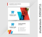 blue red and orange dentist... | Shutterstock .eps vector #535018711