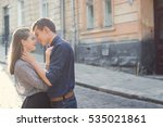 man and woman walking in the...   Shutterstock . vector #535021861