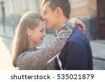 man and woman walking in the... | Shutterstock . vector #535021879