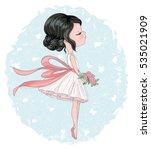 cute girl vector design. for... | Shutterstock .eps vector #535021909