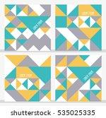 set of 4 geometric cards.... | Shutterstock .eps vector #535025335