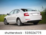rear side view of a car on... | Shutterstock . vector #535026775