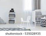 light child room wite rocking... | Shutterstock . vector #535028935