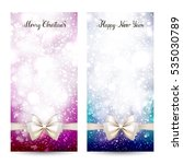 two festive greeting cards with ... | Shutterstock .eps vector #535030789