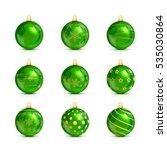 set of decorative green... | Shutterstock . vector #535030864