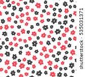 hand drawn flower pattern....   Shutterstock .eps vector #535031371