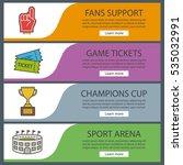 sport game banner templates set....   Shutterstock .eps vector #535032991