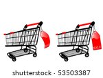 the shopping cart with sale... | Shutterstock . vector #53503387