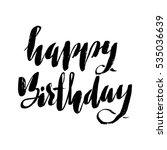 happy birthday lettering for... | Shutterstock .eps vector #535036639